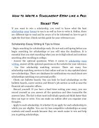 discover the secrets in writing and using a scholarship essay format 2