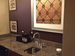 embassy suites by hilton baltimore inner harbor galley kitchen with granite countertops