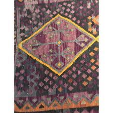 purple orange kilim rug 41 95 chairish