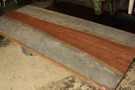 concrete and wood furniture. Image Of: Concrete Patio Table And Wood Furniture E