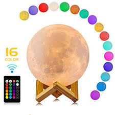 Amazon.com : <b>Moon Lamp</b>, LOGROTATE 16 Colors LED <b>3D Print</b> ...
