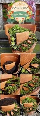 fairy garden pots. Broken Pot Fairy Garden Pots R