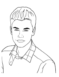 cute icon justin bieber coloring page