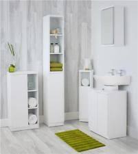 Image Homecrest Modern White Gloss Bathroom Furniture Range Cabinet Cupboard Mirror Under Sink Ebay White Bathroom Cabinets Cupboards With High Gloss Ebay