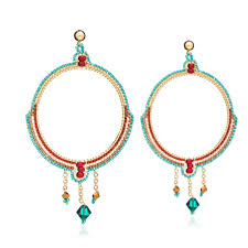 bonita large chandelier earrings in navajo