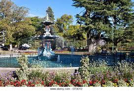 garden water features new zealand. botanic garden, christchurch, south island, new zealand - stock image garden water features