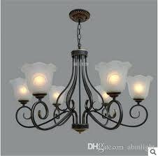 hot decoration small glass chandelier light iron pendant living room restaurant bedroom lamp commercial