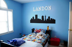 boys blue bedroom. Handsome Images Of Boy Bedroom Decoration : Astounding Using London Wall Mural Boys Blue O