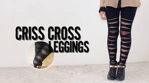 diy criss cross leggings akari beauty