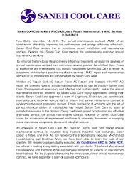 Air Conditioner Amc Agreement Format Saneh Cool Care Renders Air Conditioners Repair Maintenance Amc S