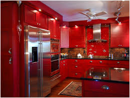 Red And Black Kitchen Red Kitchen Cabinets For Sale Design Porter