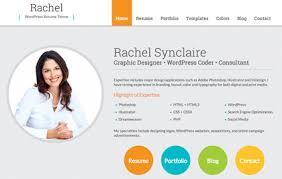 ... Trendy Idea Wordpress Resume Theme 1 Rachel