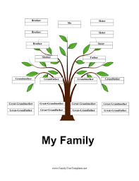 my family tree template set against a beautiful green sprout this free printable family