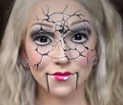 how to create a costume with your makeup creepy doll makeup tutorial for make up tutorial creepy doll