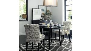 42 round table top halo ebony round dining table with glass top reviews crate and barrel