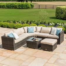 brown rattan garden furniture