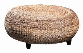 Small Round Rattan Table Centerpiece Round Wicker Ottoman Light Brown Wicker Rattan Round