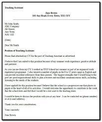 Sample Cover Letter For Teacher Assistant Job Cover Letter