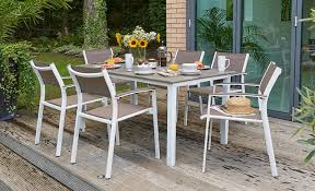 metal garden chairs wooden patio furniture 6 chair