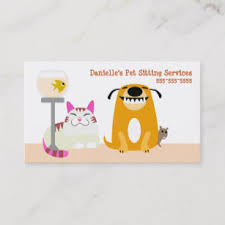 Pet Sitter Business Cards Pet Sitting Business Cards Zazzle