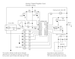 propeller clock here is the schematic of the clock and the rotating part of the transformer in my version of the clock the secondary of transformer mode and time sensors