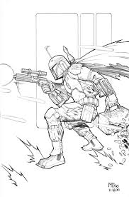 Boba Fett And Jangofett Star Wars Coloring Pages For Kids With Boba