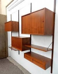 incredible mid century modern poul cadovius cado wall unit cabinet shelf mid century modern wall shelves