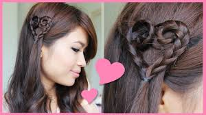 You Tube Hair Style heart braid tutorial valentines day hairstyle youtube 8960 by wearticles.com