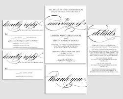 Wedding Invitation Printable Wedding Invite Formal Wedding