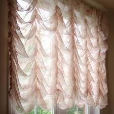 austrian festoon brail roman waterfall victorian balloon rose lace curtain