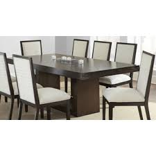 america sculpture iii contemporary glass top greyson living amia espresso dining table with removable leaf