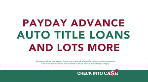 Check Into Cash Loan Chart Check Into Cash All Products