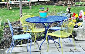 modern patio and furniture medium size metal patio table restoring furniture refinish re renew powder coat