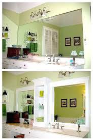 trim around bathroom mirror. Full Image For Trim Around Bathroom Mirror Put Wood Add Molding
