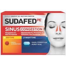 sudafed pe day night sinus