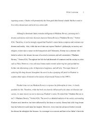 madame bovary essay  3