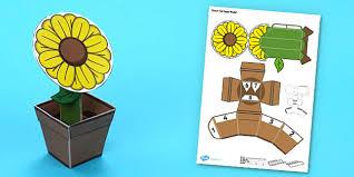 Paper Flower Pots Flower Pot Paper Model Flower Pot Paper Model Craft Flower