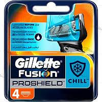 Сменные <b>кассеты</b> д/бритья <b>Gillette Fusion Proshield</b> Chill 4шт ...