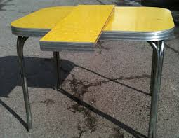 1950s yellow formica table