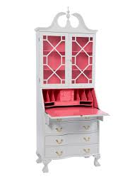 large pink and white secretary