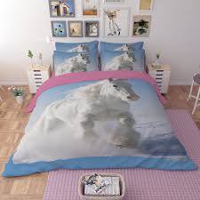 trendy 3d bedding sets single twin queen king size bedclothes bed linen dark horse printing duvet