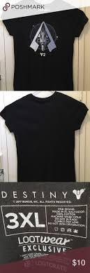 Loot Crate T Shirt Size Chart Destiny Lootcrate Womens T Shirt Size Xxxl This Shirt