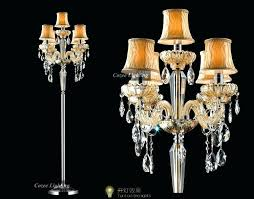 chandelier stand lamp crystal chandelier floor lamp the intended for incredible within standing inspirations