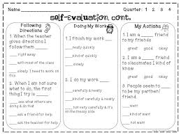 Self Evaluation Gorgeous SelfEvaluation Freebie Growing Firsties