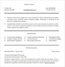 areas of expertise for customer service 10 customer service resume templates doc pdf excel