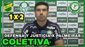 COLETIVA DE ABEL FERREIRA l AO VIVO l DEFENSA Y JUSTICIA 1 X 2 PALMEIRAS -  YouTube
