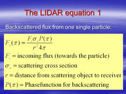 3 the lidar equation 1 backtered flux from one single particle