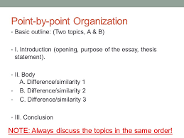 academic writing i th ppt  point by point organization