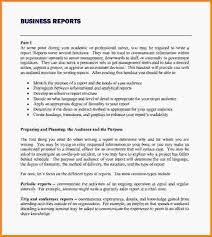 Formal Business Report Example