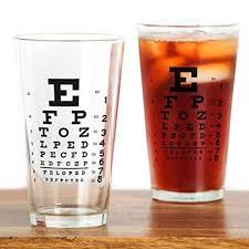 Cafepress Eye Chart Gift Pint Glass 16 Oz Drinking Glass
